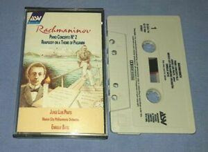 RACHMANINOV PIANO CONCERTO No.2 ENRIQUE BATIZ classical music cassette C0170