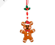 BNWT Disneyland Paris Disney Mickey Mouse Gingerbread Christmas Tree Decoration