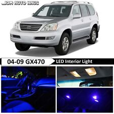 Blue Interior LED Light Bulb Replacement Package Kit Fits Lexus GX470 2003-2009