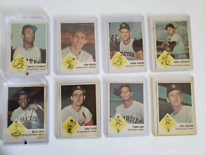 1963 Fleer Baseball Cards - HOF Roberto Clemente, Willie Mays, more PSA READY