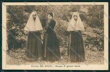 Palermo Piana dei Greci Costumi cartolina QQ0578