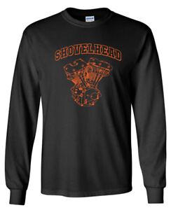 SHOVELHEAD Orange Engine LONG SLEEVE T-shirt - Harley Biker