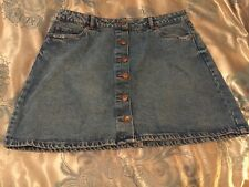 New Look Ladies  Button Up Front Denim Skirt Size 16
