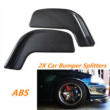 Pair Carbon Fiber Style Car Front Bumper Diffuser Splitter Anti-collision Strip