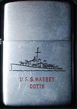 ZIPPO USS MASSEY DD 778 REGULAR USED 1951
