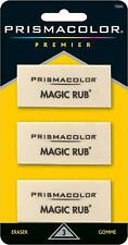 Prismacolor Magic Rub Erasers. White. Pack of 3 Erasers.
