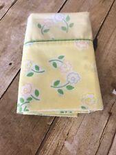 Vintage Wamsutta Ultracale Pillowcase Yellow Retro Mod Floral