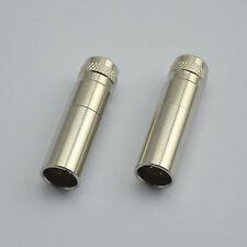 2PCS, Connector - Mini XLR 3-Pin Male Inline Socket Metal