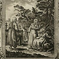 Siberia Russia Women dress manners 1778 nice old engraved print