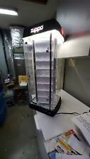 LIGHTED & ROTATES ZIPPO LIGHTER COUNTERTOP DISPLAY CASE - HOLDS 96 LIGHTERS NEW