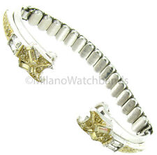 JB Jacoby Bender Two Tone Stainless Steel Unique Ladies C Ring Watch Band Short