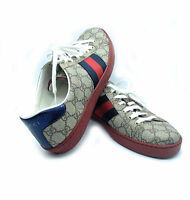 GUCCI New Ace GG Supreme Sneaker - Men's Sz. 9