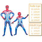 Kids boyes Spiderman Cosplay Costume Halloween Superhero Zentai Jumpsuit Suit