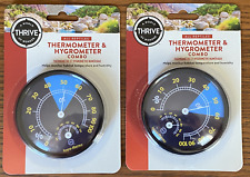Lot Of 2 Thermometer Hygrometer Combo All Reptiles Thrive Bearded Dragons Snakes