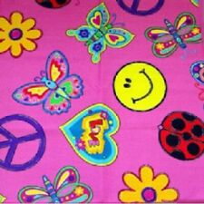 1960's / Decade Party Supplies Peace, Love, Flowers, Butterfly Bandana / Scarf