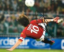 Francesco Totti in person Roma signed 10x8 photo F UACC Registered dealer COA