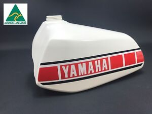 NEW Yamaha YZ 400E 2K8 1978 Fuel Tank Vintage Gas Petrol NOS Replica WHITE
