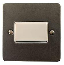 G&H FP69W Flat Plate Pewter 1 Gang Triple Pole 10A Fan Isolator Switch