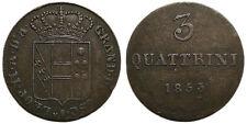 Italien Firenze Leopoldo II, 3 Quattrini 1853
