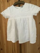 Child's White  Cotton Dress.Age 3-4years.