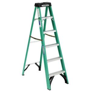 6 ft. Fiberglass Step Ladder with 225 lb. Load Capacity Type II Duty Rating