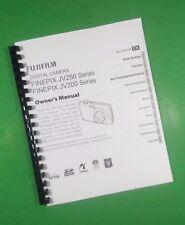 LASER PRINTED Fujifilm JV200 JX250 Finepix Camera 114 Page Owners Manual