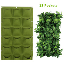 18Pockets Wall Hanging Garden Planter Bag Indoor Outdoor Vertical Herb Pot Green