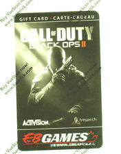 CALL OF DUTY BLACK OPS II Limited Ed COLLECTIBLE Gift Card No Value Rechargeable