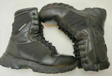 Smith & Wesson Mens Breach 2.0 Tactical Boots Black Lace Up Zipper Hook Loop 6 R