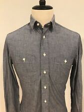 Gitman Vintage Mens Slim Fit Chambray Shirt Blue Made USA Size Small Hardly Worn