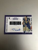 2019-20 Panini Contenders Draft Picks #126 Tremont Waters RC Auto LOOKS GREAT!