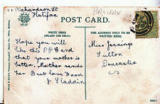 Genealogy Postcard - Family History - Jennings - Sutton - Doncaster   A1502