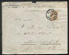"""DWI 1904, 8¢ Coat of Arms (Scott 30) tied St. Thomas to NY per ship """"Caribbee"""""""