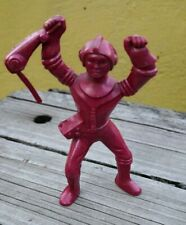 """VTG 1950's ARCHER AJAX STYLE RED SPACEMAN 4"""" FIGURE MARX ASTRONAUT TO THE MOON"""