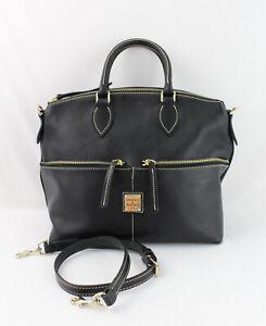 Dooney & Bourke NWOT Black Leather Pocket Satchel Handbag Shoulder Bag