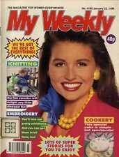 MY WEEKLY MAGAZINE 22/1/1994 KNITTING PATTERN DINOSAUR JUMPER, EMBROIDERY