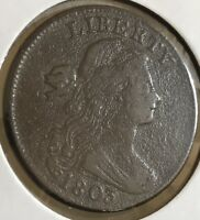 1803 Large Cent Draped Bust One Cent Nice Better Grade VF  #7589