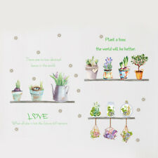 Removable Wall Garden Plant Flower Stickers Kitchen Bedroom Home Art Decal Decor