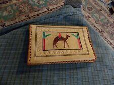 """Vintage Embossed Camel Soft Leather Tanbraimed Wallet 5 1/2"""" X 3 3/8"""" VG !"""