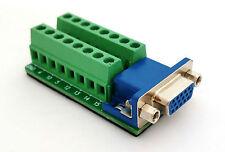 DB15 DSUB 15pin HD Female Adapter VGA Breakout Board Connector (D4)