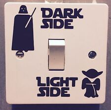 NOVELTY FUNNY STAR WARS-DARK SIDE LIGHT SIDE*LIGHT SWITCH STICKER, DIY BEDROOM