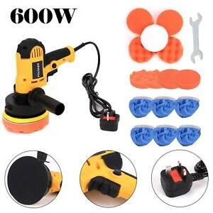 "5"" 600W Car Polisher Kit Sander Buffer Kit Waxing Machine  M-14 Bonnet Pads"