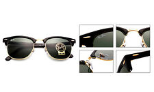 Ray-Ban Small Clubmaster RB3016 W0365 49mm Green Classic G-15 Lens Black Frame