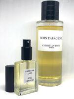 CHRISTIAN DIOR- Bois D'Argent - Eau de Parfum-30ml - decant size - 100% GENUINE