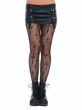 Womens Plus Size Worship Me Cross Fishnet Pantyhose Net Costume Tights 1x2x