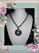 SNOWFLAKE OBSIDIAN HANDMADE UNIQUE ONE OF A KIND NECKLACE JEWELLERY @ JAY WOLFE