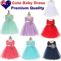 Tulle Baby Girl Dress Flower Girl 1st Birthday Party Infant Dress Size 00 to 1