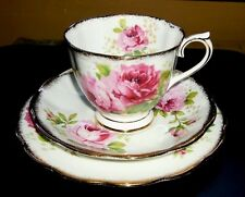 Royal Albert American Beauty Teacup & Saucer w/Side Plate - Made in England