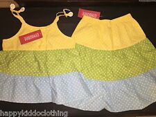 NWT Gymboree A Pop of Daisies Polka Dots  Dress size 4 4t outfit NEW shirt skirt