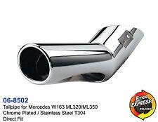 Auspuff endrohre edelstahl verchromt fur Mercedes Benz W163 ML320 ML350